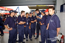 BMW Junior drivers have a tour of the F1 Paddock and BMW WilliamsF1 garage