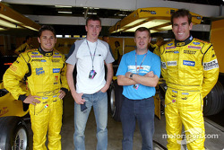 Jordan Grand Prix Giancarlo Fisichella and Ralph Firman with Ford WRC Markko Martin and Michael Park