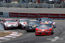 Jeff Gordon leads Boris Said, Kurt Busch, Scott Pruett and Jeff Burton