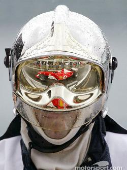 Reflection of Rubens Barrichello
