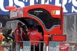 Michael Schumacher at the Ferrari pitwall