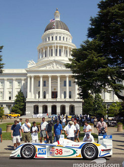 The ADT Champion Audi draws onlookers on the street in front of the California State Capitol building in Sacramento on Tuesday