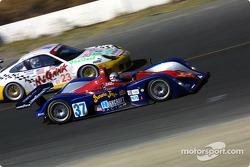 #37 Intersport Racing Lola EX257/AER MG: Jon Field, Duncan Dayton, and #23 Alex Job Racing Porsche 911 GT3 RS: Lucas Luhr, Sascha Maassen