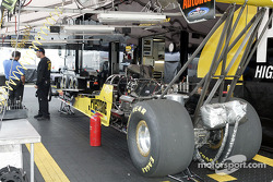 Top Fuel car being serviced