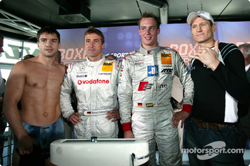 DTM vs boxing event: Markus Beyer, Bernd Schneider, Peter Terting and Danny Green