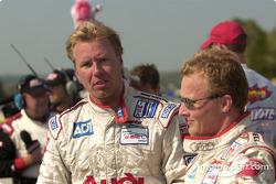Race winners J.J. Lehto and Johnny Herbert
