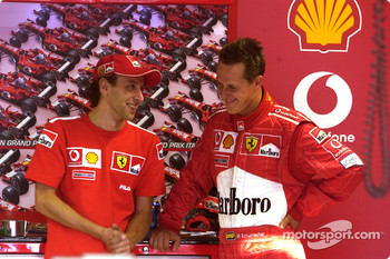 Luca Badoer and Michael Schumacher