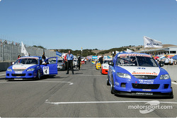 The Touring Car grid at Mazda Raceway Laguna Seca