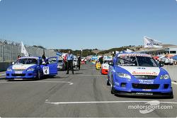 The Touring Car grid at Mazda Raceway Laguna Seca