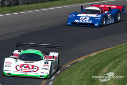 #6 1988 Porsche 962C, owned by Aaron Hsu leads #83 1990 Nissan R90c, owned by Jim Oppenheimer