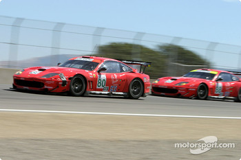 #80 Prodrive Ferrari 550 Maranello: Jan Magnussen, David Brabham and #88 Prodrive Ferrari 550 Maranello: Tomas Enge, Peter Kox