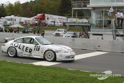 #119 Doncaster Racing Porsche GT3 Cup: Robert Julien, Jean-François Dumoulin takes checkered flag