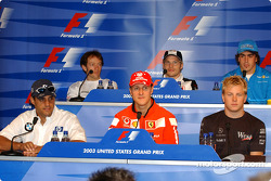 Thursday FIA press conference: Juan Pablo Montoya, Michael Schumacher, Kimi Raikkonen, Cristiano da Matta, Jacques Villeneuve and Fernando Alonso
