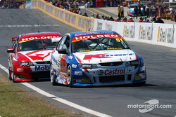 Mark Skaife wasted no time and caught Greg Murphy after a handful of laps