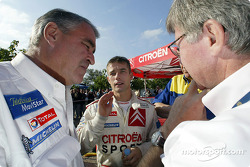 Sébastien Loeb with Guy Fréquelin and Jean-Claude Vaucard