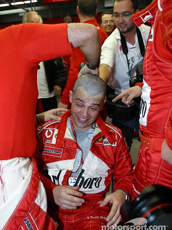 Hairy celebrations at Ferrari