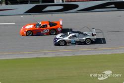 #50 Team Amick Motorsports Corvette: David Amick, Lyndon Amick, and #54 Bell Motorsports Chevrolet Doran: Terry Borcheller, Forest Barber