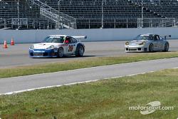 #39 Stevenson Motorsports / Auto Assets Porsche GT3 RS: Chip Vance, John Stevenson, and #44 Orbit Racing Porsche GT3 RS: Jay Policastro, Joe Policastro