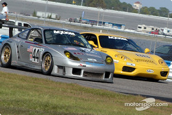 #44 Orbit Racing Porsche GT3 RS: Jay Policastro, Joe Policastro, and #88 Scuderia Ferrari of Washington Ferrari 360 Challenge: Nick Longhi, Emil Assentato