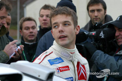 Sébastien Loeb at Sennybridge regroup area