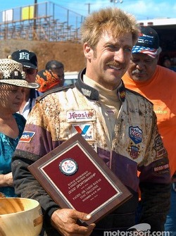 Rick Ziehl recieves the weekend's good sportsmanship award