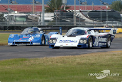 83 Sauber C-6 GTPL, GTP4 and 86 Porsche 962 GTP2