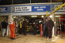 Mark Coffey Racing pit area
