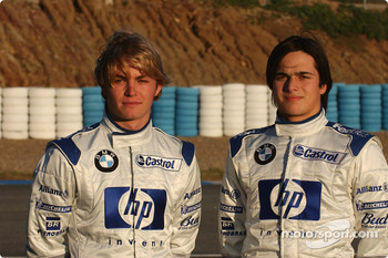 Nico Rosberg and Nelson A. Piquet