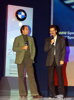 BMW Motorsport party: Gerhard Berger and Dr Mario Theissen