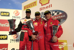 Ferrari 360 Challenge Pirelli Trophy race 1, the podium