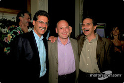Dr Mario Theissen with Eddie Baker and Nelson Piquet