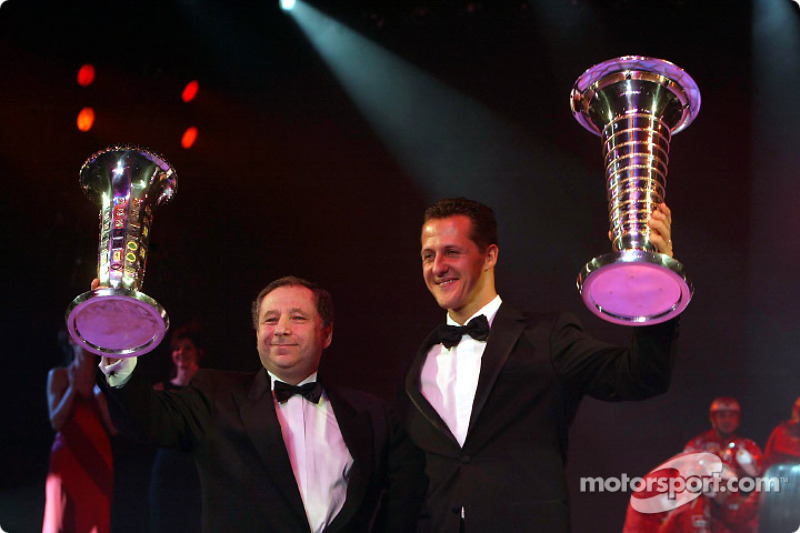Formula One World Champion Michael Schumacher and Jean Todt