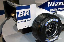Rear end of the new WilliamsF1 BMW FW26