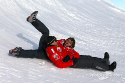 Rubens Barrichello and Luca Badoer have fun