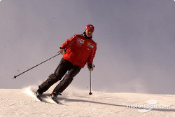 Michael Schumacher on skis
