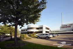 The Toyota Motorsport factory entrance