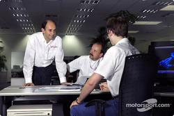Luca Marmorini, Technical Director Engine, works with his team of designers