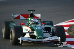 Christian Klien tests the new Jaguar R5
