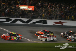 Jeff Gordon leads Dale Earnhardt Jr. and Jamie McMurray