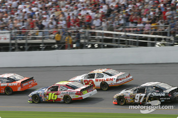 Greg Biffle, Dave Blaney and Kurt Busch