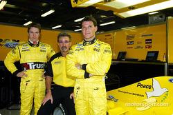 Nick Heidfeld, Eddie Jordan and Giorgio Pantano