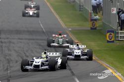 Ralf Schumacher ahead of Juan Pablo Montoya