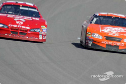 Tony Stewart takes the lead from Kasey Kahne