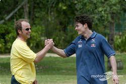 Sauber driver training in Kota Kinabalu: physio therapist Josef Leberer and Giancarlo Fisichella