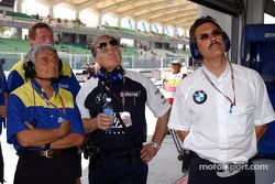 Pierre Dupasquier, Patrick Head and Dr Mario Theissen