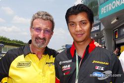 Eddie Jordan and F3 driver Fairuz Fauzy