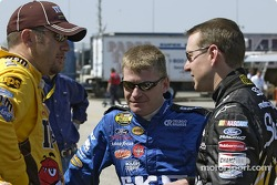 Elliott Sadler, Jeff Burton and Kurt Busch