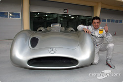 Jean Alesi with the Mercedes-Benz W196 Streamliner