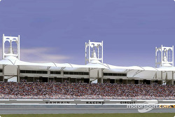 Rendering of the main grandstand