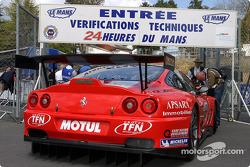 Larbre Competition Ferrari 550 Maranello at scrutineering